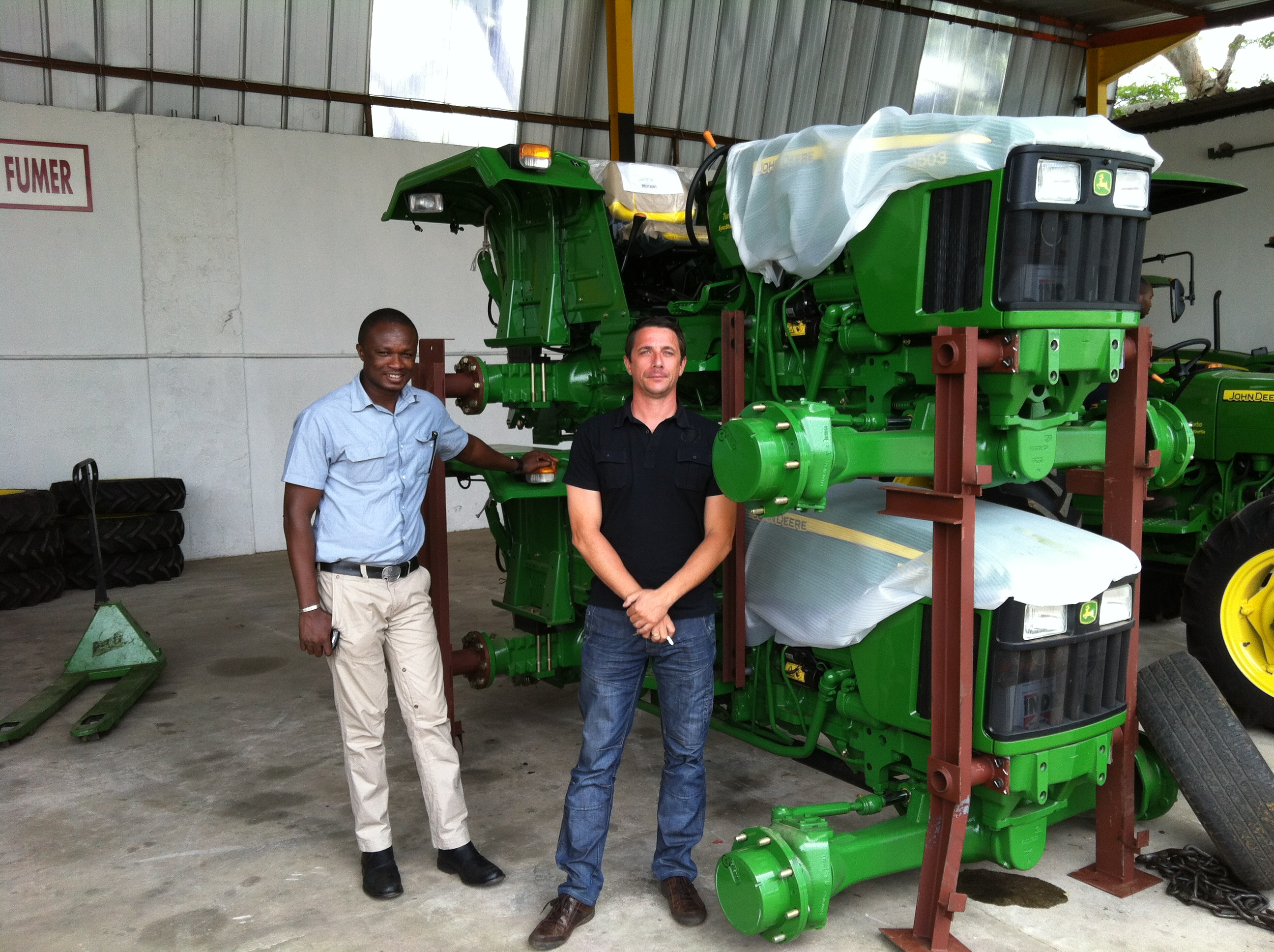 Lassire Industrie employees Jean Elloh and Eric Hadangue